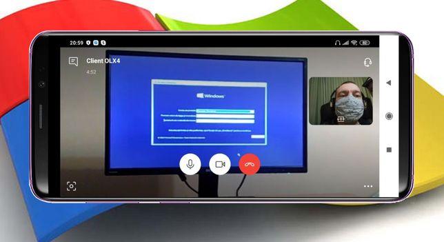instalare WINDOWS prin TELEFON (prin Whatsapp, Skype, Zoom, Messenger)