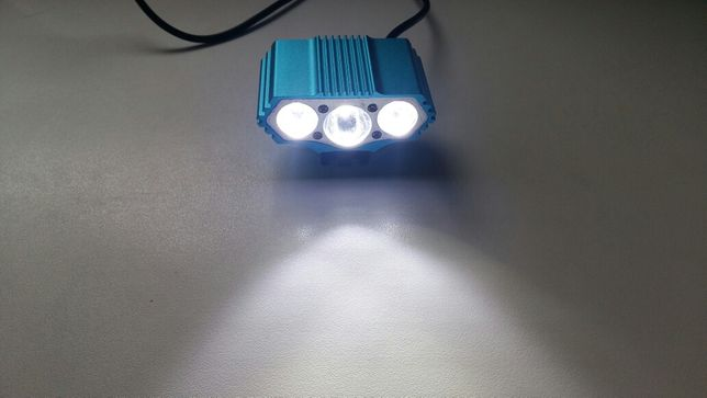 Far bicicleta LED 3×CREE XML U2 T6