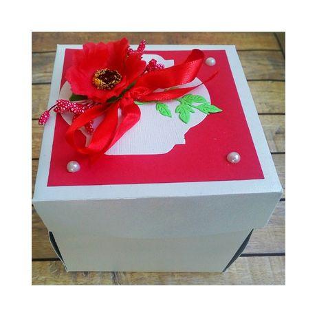 """Експлодираща кутия """"Мак"""", хартиена торта """"Шоколад"""", картичка, плик"""