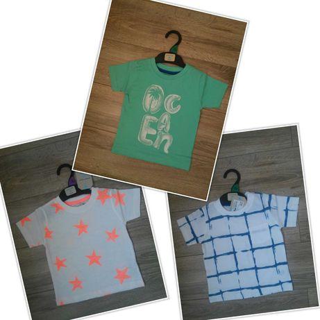 Комплект английски тениски от 100% памук, размер 12-18 месеца