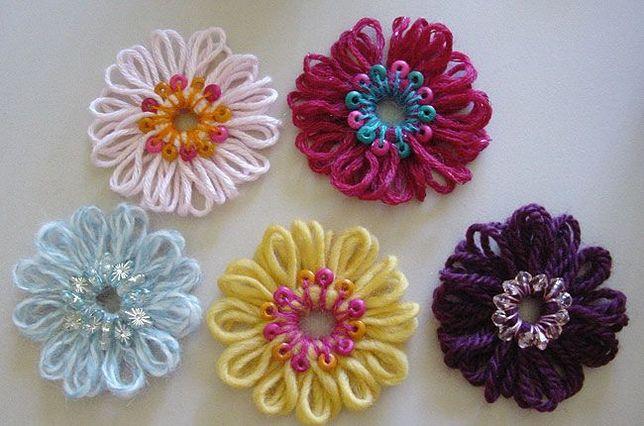 Устройство для вязания цветов из ниток и лент- Лума (Тенерифе)