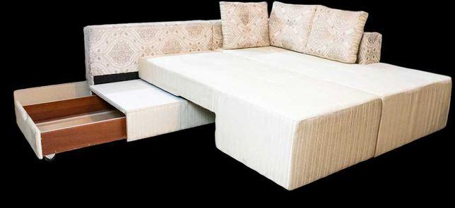 Большой диван угловой трансформер новый.