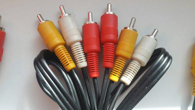 """Аудио -видео кабель """"тюльпан"""" высококачественный"""