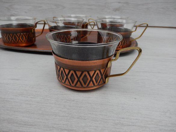 Меден сервиз за чай / кафе Schott & Gen Mainz jena glas