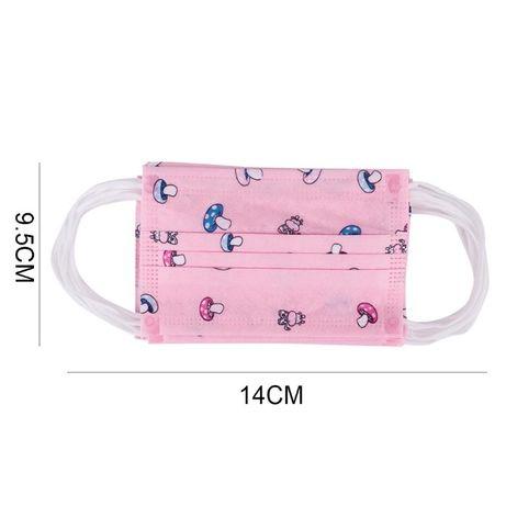 Set 50 bucati Masti faciale protectie copii, 3 straturi, roz
