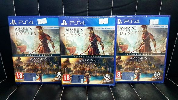 ASSASSIN'S CREED Odyssey и Origins Double Pack за PS4