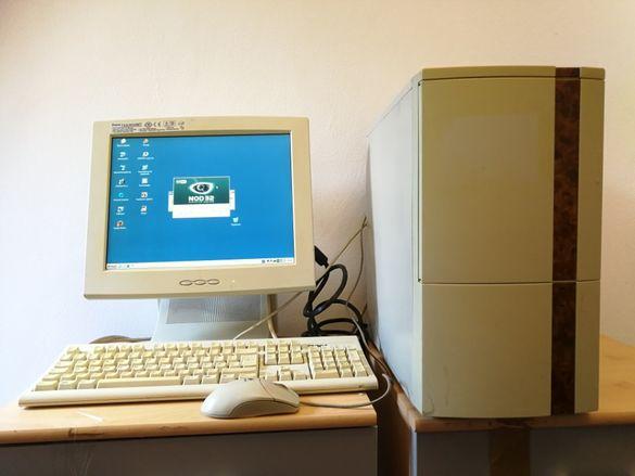 "Продавам настолен компютър , Монитор 15"", мишка и клавиатура, работещ"