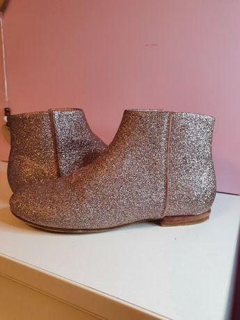 Pantofi inalti fete zara, glitter, mar 33