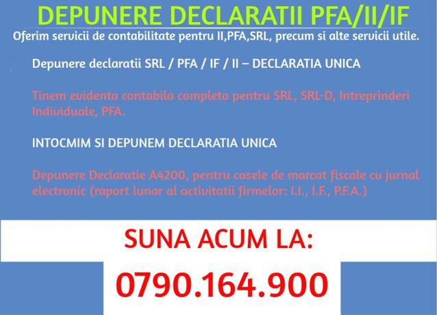 Depunere declaratii SRL / PFA / IF / II – DECLARATIA UNICA 2020
