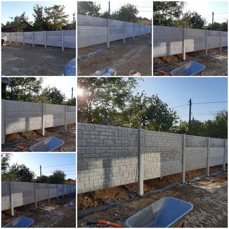 Gard din beton și pavaje