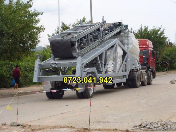 Statie betoane mobila noua 100mc/h + 3 silozuri ciment 100t