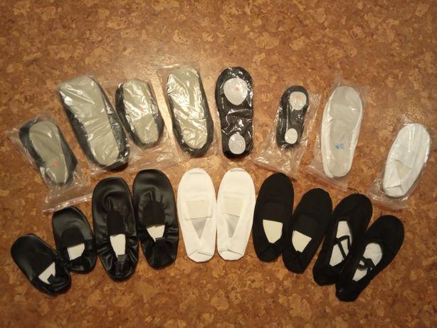 Продам новые чешки черные и белые, балетки черные, розовые, белые