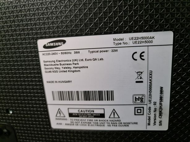 "Samsung UE22H5000 Full HD 22"""""