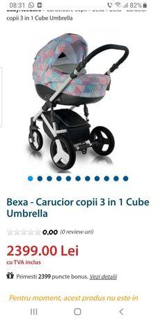 Cărucior 3 în 1 Bexa Cube Umbrella