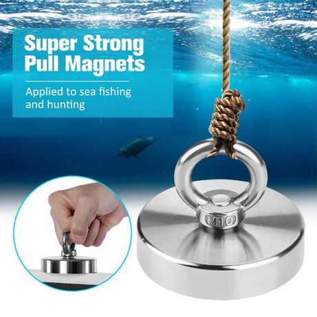 90mm 380кг. МАГНИТ с кука (халка), за риболов, неодимов, magnit