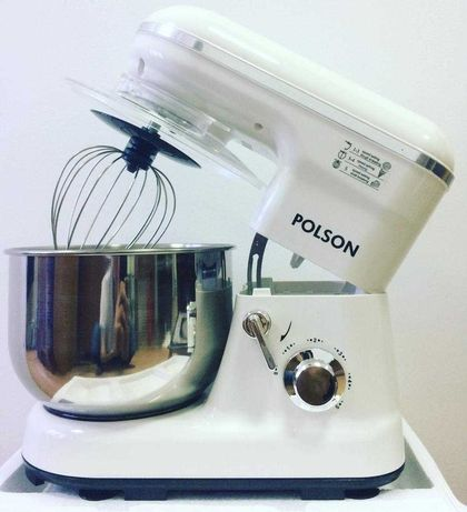 Планетарный  Миксер POLSON 1200Вт тестомес, чашка 5л/ Доставка