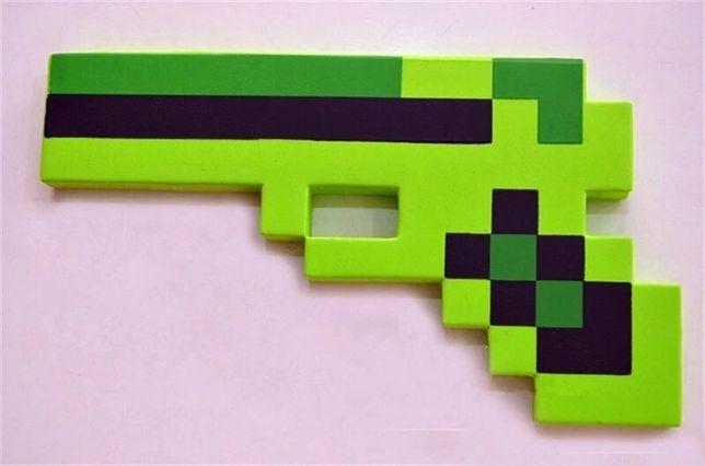 Jucarie pistol, arma verde plus/burete minecraft copii / cadou craciun