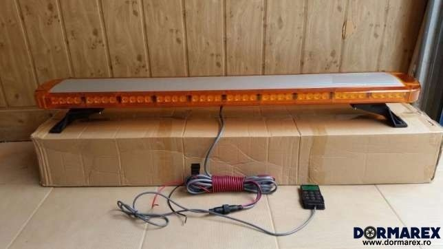 Rampa girofar LED 264W galben 1,2 metri - Avertizare luminoasa