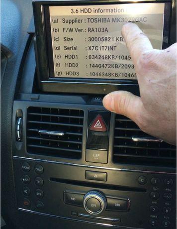 2020/21год.Comand Ntg4 W204 Отключване HDD Ъпдейт на 30гб Hdd с Ver.16