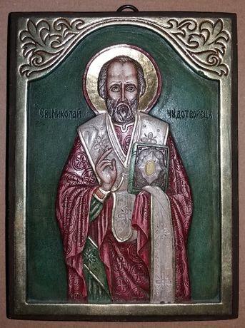 Релефна икона на Св. Николай Чудотворец