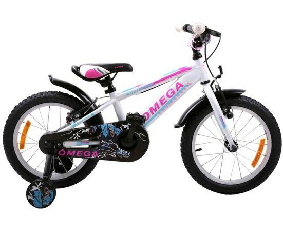 "Bicicleta pentru copii Omega Master 20"" ALB model 2021 Roti ajutatoare"