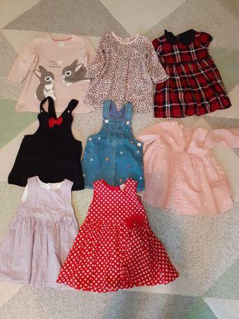 Lot rochițe fetite măsura  68-74 cm marca H&M și George's