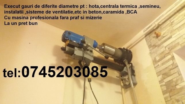 gauri,carotari pt:hota,centrala ,aerisiri,beton armat,aer conditionat