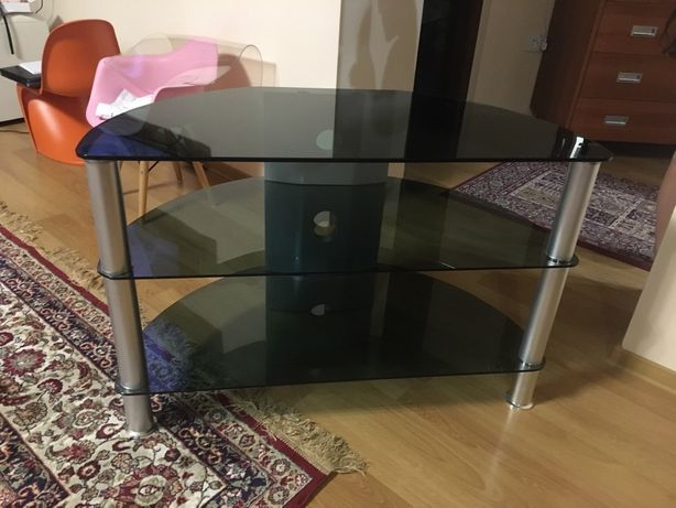 Тумба для ТВ и оргтехники стеклянная