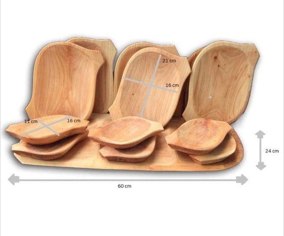 Platou din lemn 13 piese