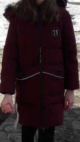 Куртка парка зима на 11-12лет