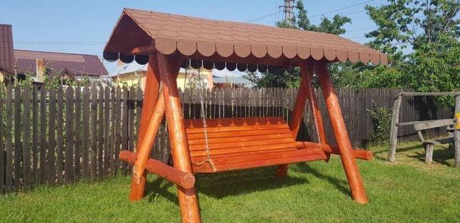Leagan din lemn masiv / balansoar rustic ,