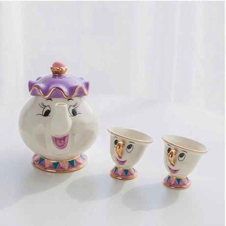 """Чайный сервиз """"Красавица и Чудовище"""" . Disney"""