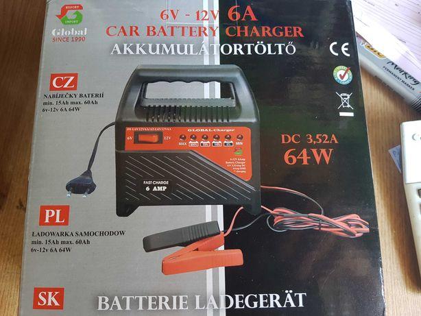 NOU, 12 V - 6 volt  - 6 A max incarcare batery  60 ah