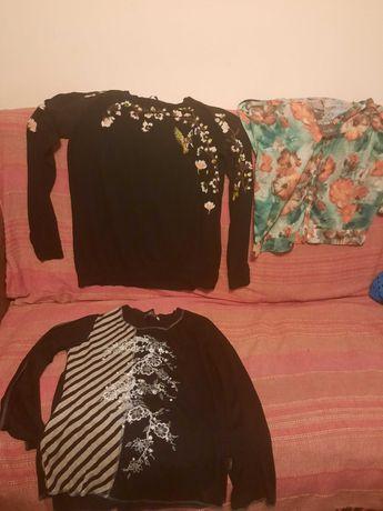 bluze cu flori bumbac