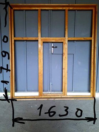 Дървен троен прозорец с отваряемо средно крило (чам)