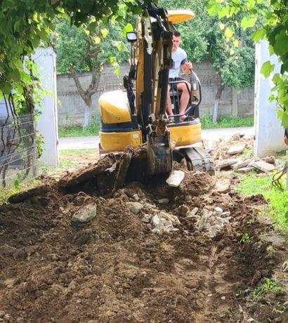 Santuri, fundatii, decopertam,Miniexcavator, Bobcat, Buldoexcavator