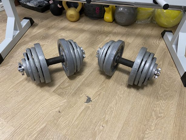 Gantere reglabile profesionalere noi otel crom set 52 kg-26 kg+26 kg