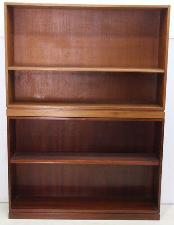 Corp de Biblioteca vintage cu rafturi; Dulap cu polite; Etajera