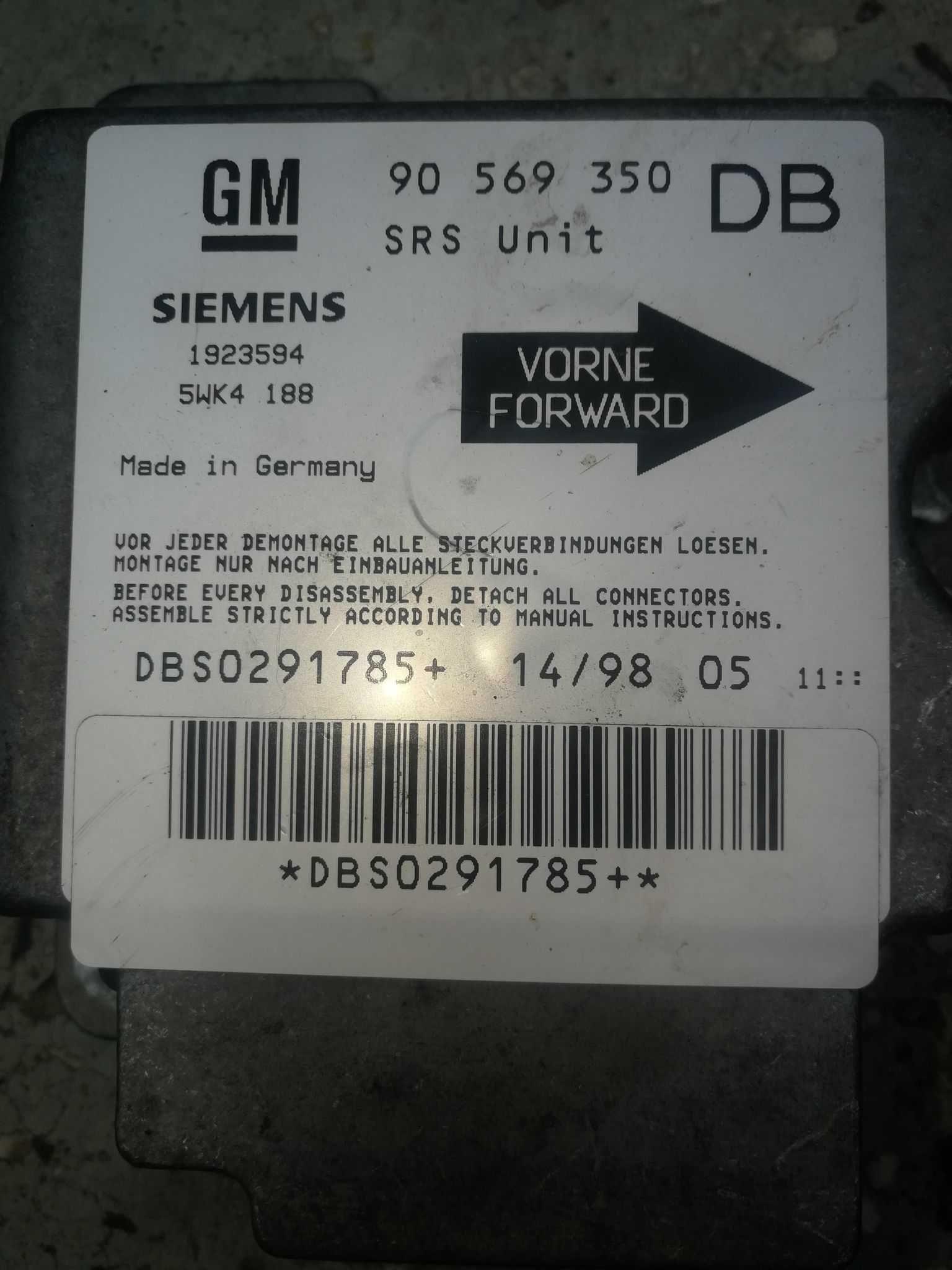 Продавам Компютър за Опел Вектра Бензин.