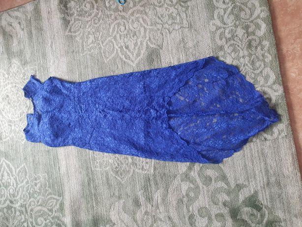Платье вечернее в синем цвете