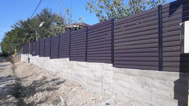 Garduri tip jaluzele, fier forjat, sipca metalica, BCA, plasa, placi