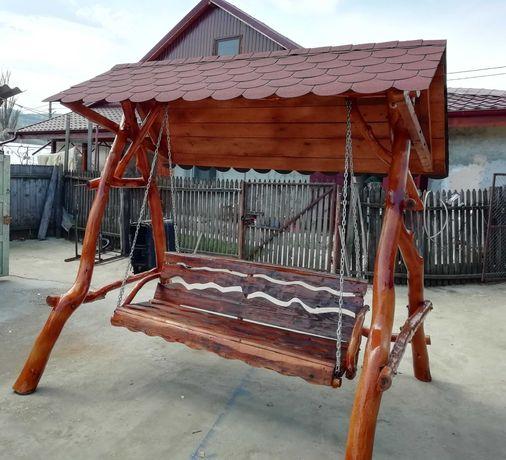 Leagan din lemn pentru gradina