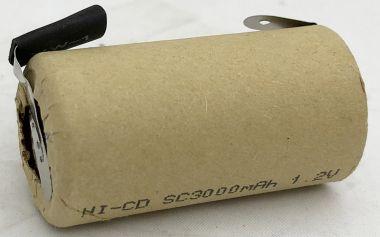 Acumulator Ni-Cd - 1.2V/3000mA - cu terminale