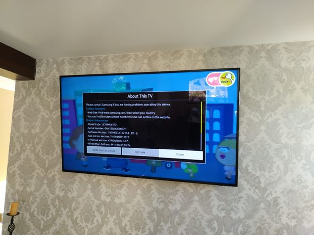 TV Samsung 4K SERIA 6 190 CM diagonala