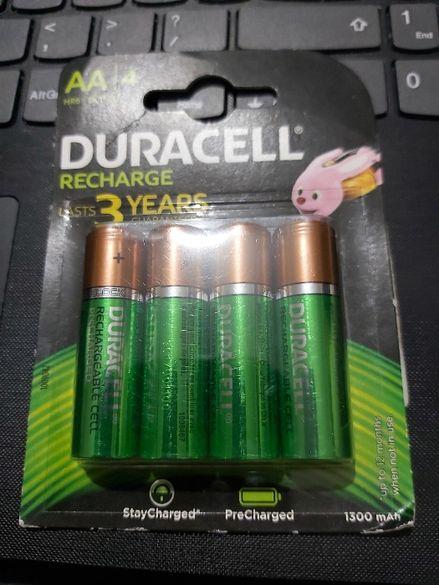 4 х DURACELL AA RECHARGEABLE 1300mAh батерии Дурасел презареждащи