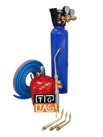 Оксиженна ТИГТАГ горелка за запояване комплект готов за работа