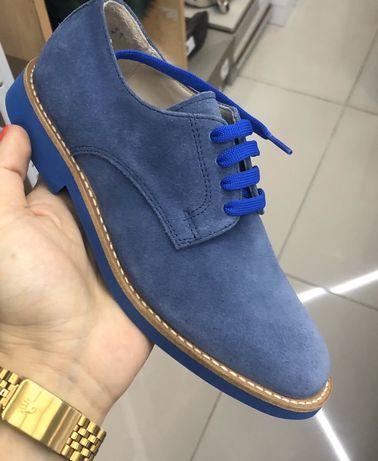 Туфли замшевые . Италия