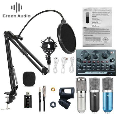 AUDIO GREEN Cтудийный микрофон BM-800+Внешняя звуковая карта V8/2