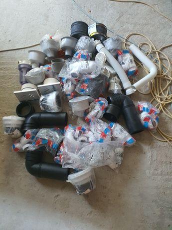 Piese instalatii scurgeri  plastic