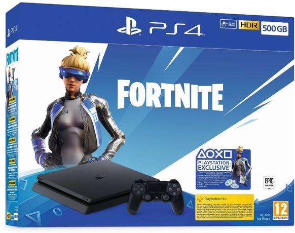 Sony PlayStation 4Slim Нов/PS4/Диск-500GB/Бонус пакет от игри подарък/